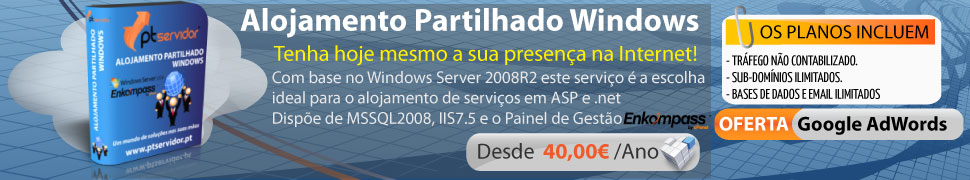 Alojamento Windows nacional com Enkompass